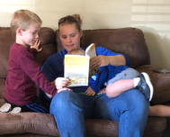 Boise Rains family reading my book